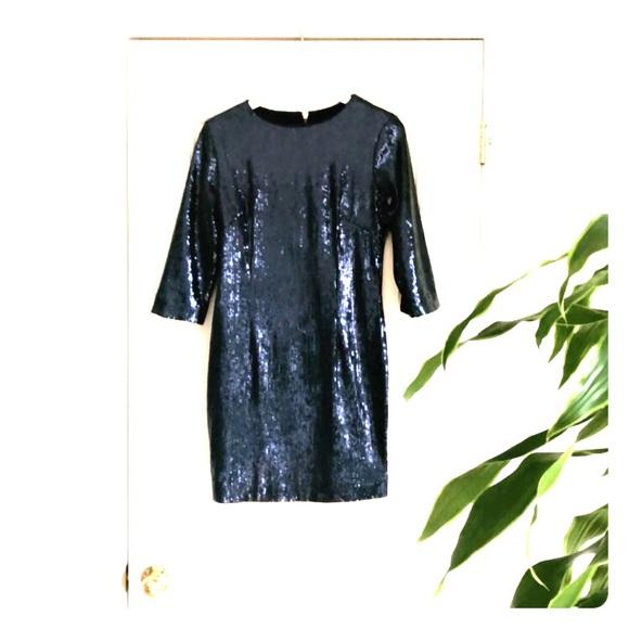 Lucy Co Dresses Gorgeous Navy Sequin Dress Poshmark